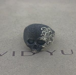 David Yurman Wave Skull pinky Ring
